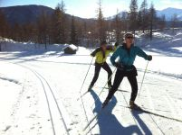 X Country ski around the Mont-Blanc
